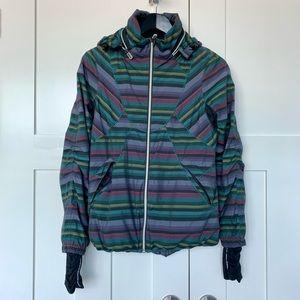 Lululemon Run Hustle Jacket in Multi Poncho Stripe
